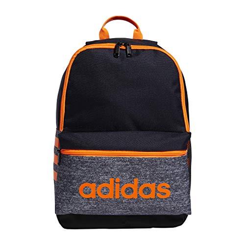 adidas Youth Classic 3s Backpack, Onix/Navy/Orange/Black, One Size