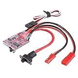 Dilwe RC ESC Windenschalter Controller, RC Auto Elektrische Geschwindigkeitsregler Modellfahrzeug Zubehör 30A Brushed ESC Windenschalter Controller für 1/10 Skala