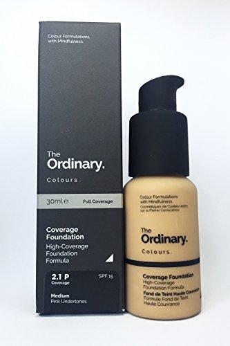 Base de maquillaje de cobertura total The Ordinary, SPF15, 30ml