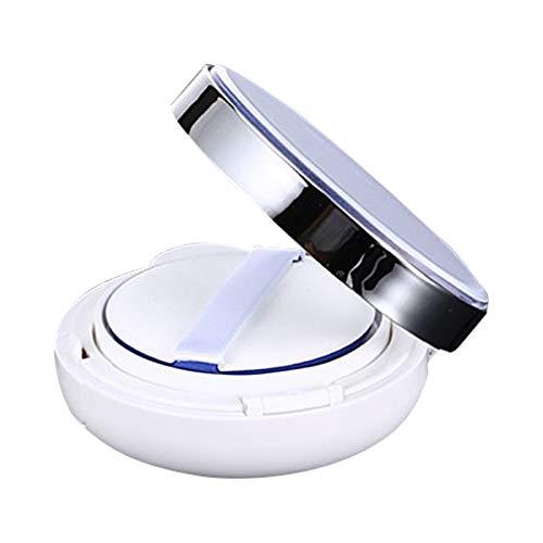 freneci Bricolage Coussins D'air Miroirs Boîte Maquillage Éponge Boîte Poudre Boîte BB Crème Conteneur - Violet