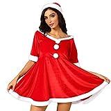 Momoxi Weihnachten Kostüm Damen Bandeau Kleid für Cosplay, mit magischem Kostüm Reizwäsche Sexy...
