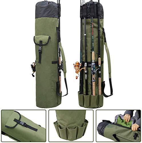 OROOTL Angelrute Tasche Angeltasche Rod Case Angelkoffer Angelrute Aufbewahrungsbeutel Angelausrüstung Organizer Reise Tasche