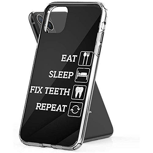 Gustave Tomlinson Carcasa Teléfono Comer Dormir Fijar Repetir Dentista Divertido Higienista Dental (Diagonal de 5.8 Pulgadas Compatible con iPhone 11 Pro)