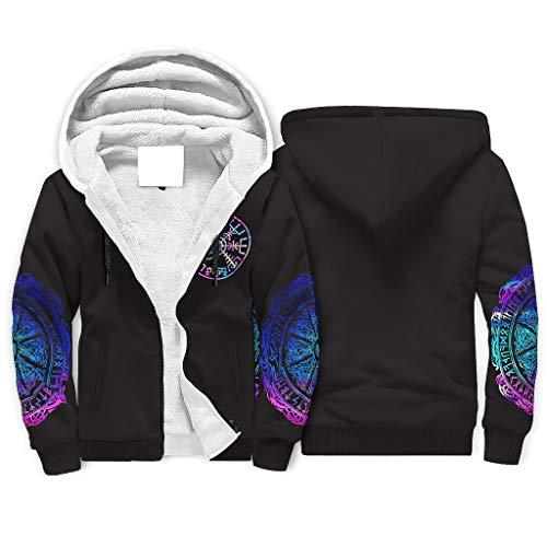 Classic Full Zip Fleece Fodera Inverno Felpe con Tasca per Figlio Figlia bianco XXX-Large