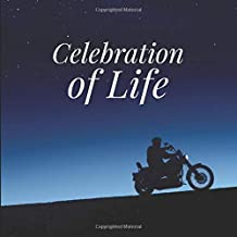 Celebration of Life Guest Book with Motorcycle: Memorial Service Guest Book, Funeral book