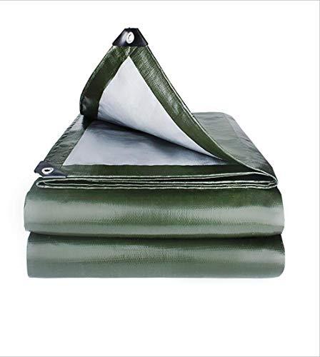 CFD TARPS Wasserdichtes Tuch der Plane, wasserdichte verdickte staubdichte Anti-wear ölbeständige Plane-Segeltuch- / Sonnenschutz-Tuch (Grün 180g / M2, 2M-10M) (größe :...