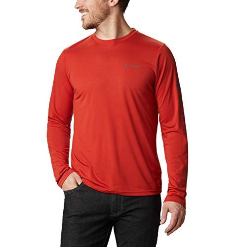 Columbia Miller Valley Bedrucktes Langarm-T-Shirt für Herren, Flame, Shark, L