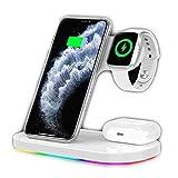 Basinnes 3 en 1 Fil Rapide À Induction Compatible Qi Chargeur sans Fil,avec Apple Watch Series...