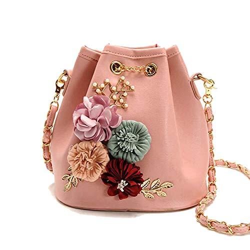 YY Cherry-Handbags Bolsitas de flores hechas a mano con cordón para e