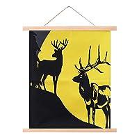 Fisrt鹿壁掛け60 * 72センチウォールアートコットン壁の装飾ペンダント装飾保育園ハウスセレモニーリビングルームホームファニシングアクセサリー-4