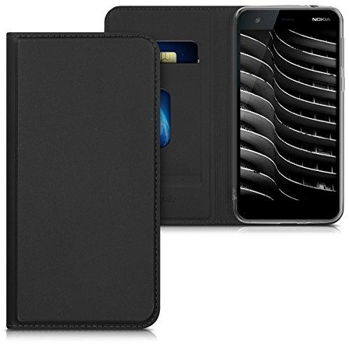 kwmobile Nokia 2 Hülle - Flip Handy Schutzhülle - Cover Case Handyhülle für Nokia 2 - Schwarz