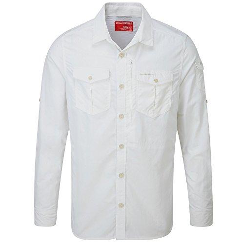 Chemise à manches longues Craghoppers NosiLife Adventure pour hommes – Chemise pour l'extérieur Medium optic white 3ER