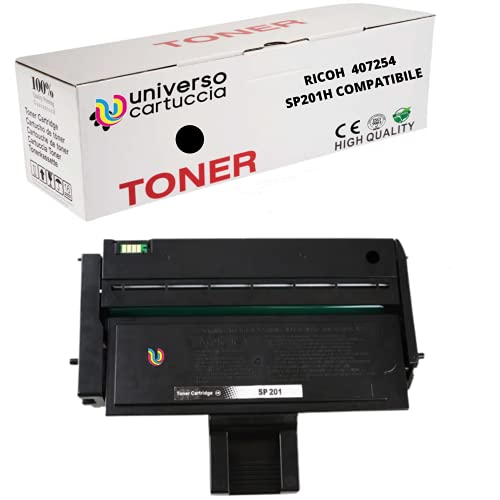 UniversoCartuccia® Toner Nuovo Compatibile per Stampanti Ricoh Aficio SP211 SP213W SP200 SP201 SP202 SP203 SP204 SP210 SP212, 407254 (2.600 copie al 5%)