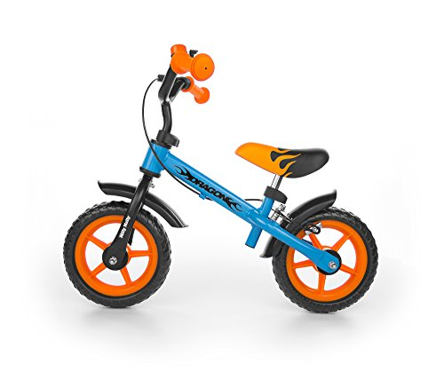 "Milly Mally Dragon Z Hamulcem Infantil Unisex Ciudad Acero Negro, Azul, Naranja bicicletta - Bicicleta (Ciudad, Acero, Negro, Azul, Naranja, 25,4 cm (10\""), Sin Cadena, Freno de Mano)"