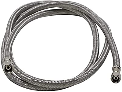 Fluidmaster 12IM72 Ice Maker Connector, Braided Stainless Steel - 1/4 Compression Thread x 1/4 Compression Thread, 6 Ft. (72-Inch) Length 1