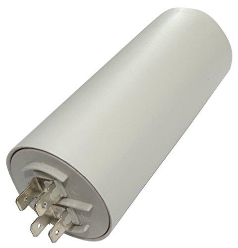 AERZETIX: Condensatore permanente di lavoro per motore 60µF 400V con capicorda 6,3mm Ø50x117mm ±5% 10000h C18658