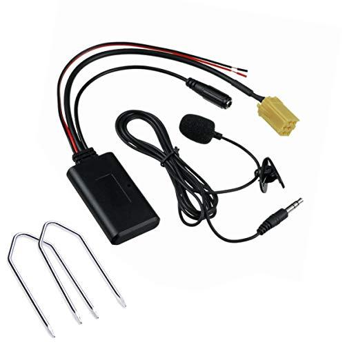 1neiSmartech Adattatore Aux Modulo Bluetooth Ricevitore Senza Fili E Kit Estrazione Compatibile Per Autoradio Blaupunkt Dispositivo Per Musica Streaming Smartphone Con Microfono Handsfree Vivavoce