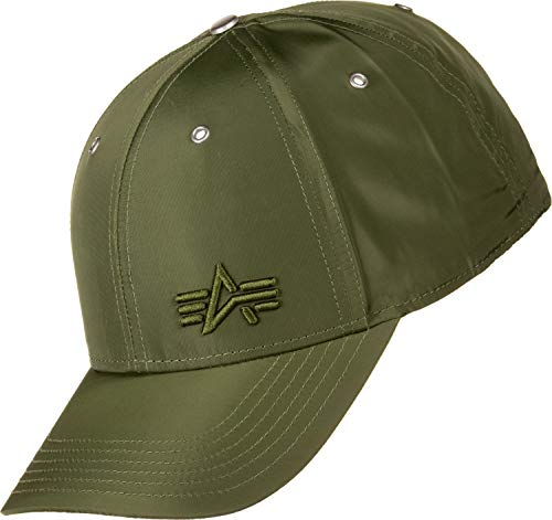 Alpha Industries Unisex Cap Small Logo Flight, Größe:one Size, Farbe:Dark Green