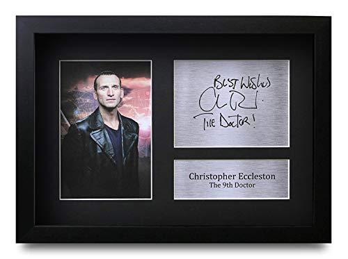 HWC Trading Christopher Eccleston A4 Gerahmte Signiert Gedruckt Autogramme Bild Druck-Fotoanzeige Geschenk Für Dr Who Tv-Show-Fans