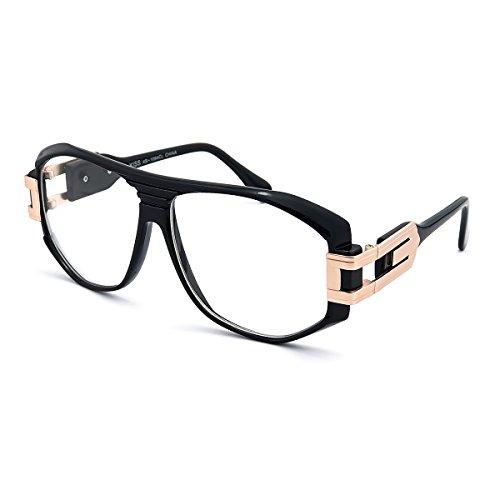 Kiss Neutrale Brille OLD SCHOOL mod. SPECIAL - optischer rahmen HIP-HOP mann frau VINTAGE - SCHWARZ