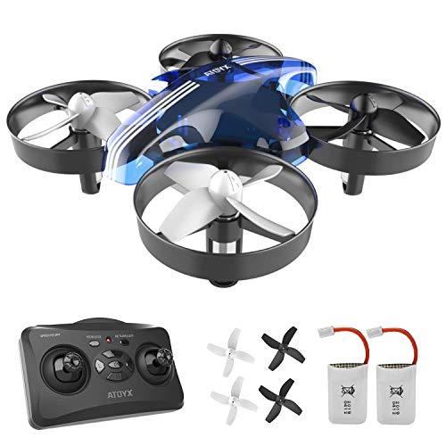 ATOYX Mini Drohne für Kinder und Anfänger, RC Drone, Quadrocopter Mini Helikopter mit Höhehalten, Kopflos Modus, 3D Flips, EIN-Tasten-Rückkehr,, 2 Batteries