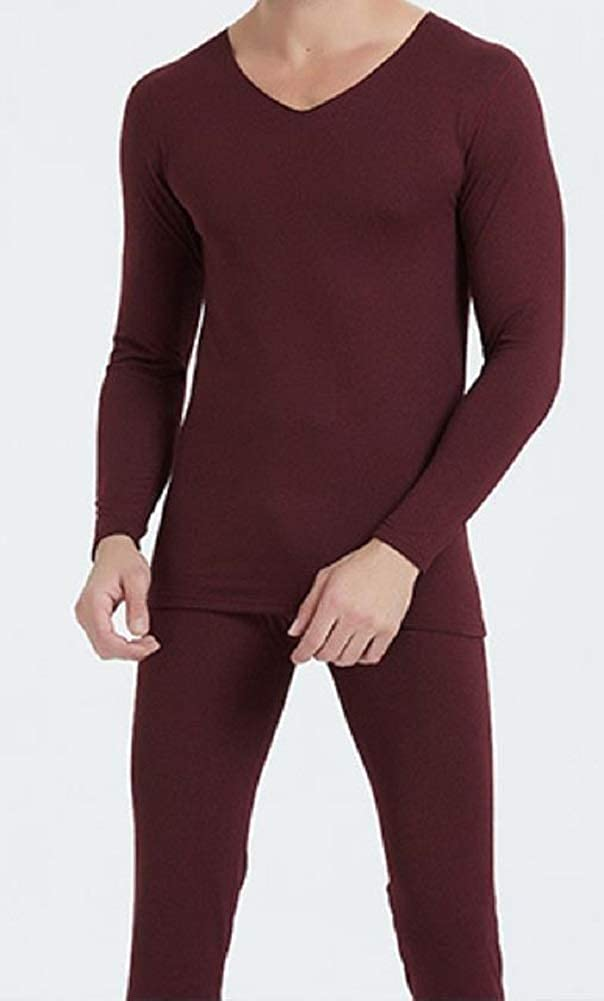 Men's Ultra Soft Thermal Underwear Long Johns Set with Fleece Lined