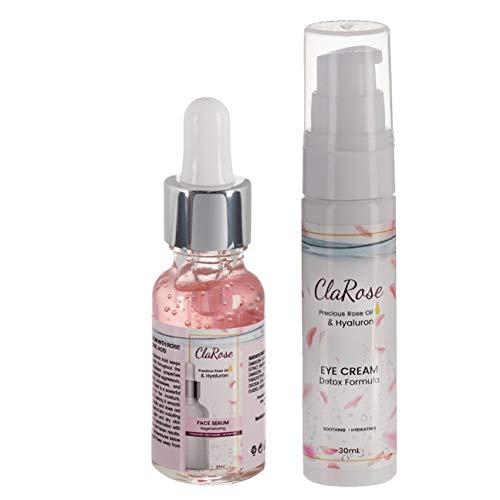 ClaRose Hyaluronsäure Anti-Aging-Augencreme mit 100 {e758f0d7a609ccfc8f8d4e9fef65894cc40f60605a18d9d4a609bf0001e07a2e} natürlichem Rosenöl; 30 ml