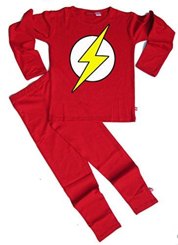 Stardust - Pijama ético para niños y niñas, color rojo