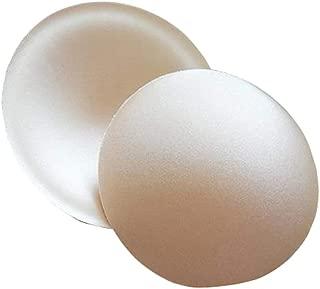 2 Pairs 4.5 Diameter Removable Round Shape Sponge Bra pad Breathable Bra Push Up Bra Breast Insert Pads Breast Enhancers Shaper for Bikini Swimsuit Dress Sports Bra Yoga Bra Nude