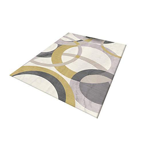 HXJHWB Alfombra De Moderna De Pelo Corto Diseño - Sofá de Moda Colorido Circular Irregular patrón Suave Alfombra Antideslizante transpirable-50 cm x 80 cm