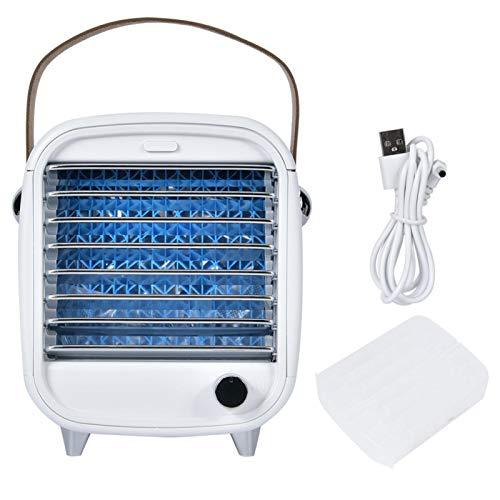 EVTSCAN Acondicionador de Aire portátil, Mini Ventilador USB, Ventilador de Escritorio para Cocina casera, mesita de Noche, Oficina, Tienda de campaña