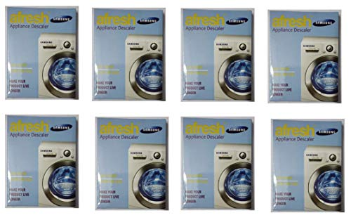 descale Powder for Samsung Washing Machine afresh Appliance Descaler 100 Grams (Universal kit for All Types of Washing Machine   Pack of 8)