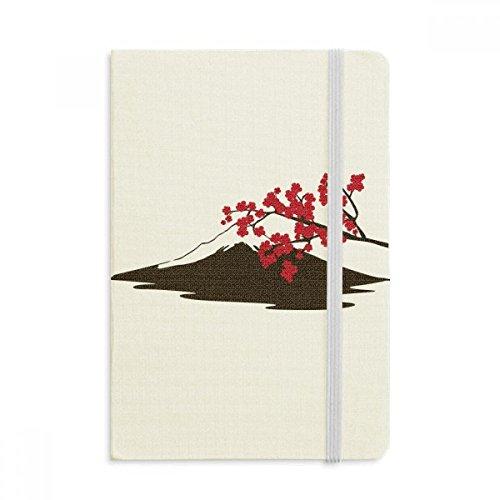 DIYthinker Japanische Sakura und Fuji-Muster Notebook Stoff Hard Cover Klassisches Journal Tagebuch A5 A5 (144 X 210mm) Mehrfarbig