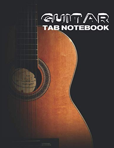 Guitar Tab Notebook: music paper sheets 8.5x11 inches 120 pages of blank guitar tablature lines and chord diagram boxes