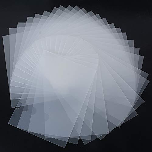 30pcs Carpeta Portafolios Transparente Plástico A4 Documentos Archivos - Parte Superior y Lateral Abiertos