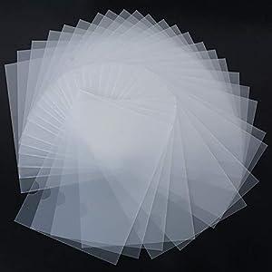 30pcs Carpeta Portafolios Transparente Plástico A4 Documentos Archivos – Parte Superior y Lateral Abiertos