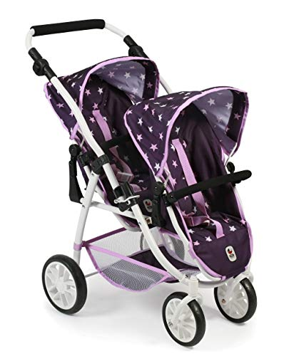 Bayer Chic 2000 689 71 Puppenwagen Tandem-Buggy Vario, Stars lila