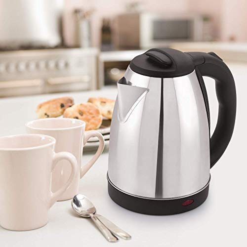 Limbakshit Electric Kettle 1.5 Liter Multipurpose Large Size Tea Coffee Maker Water Boiler with Handle (Silver)