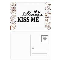 常に引用・キス・ミー 公式ポストカードセットサンクスカード郵送側20個