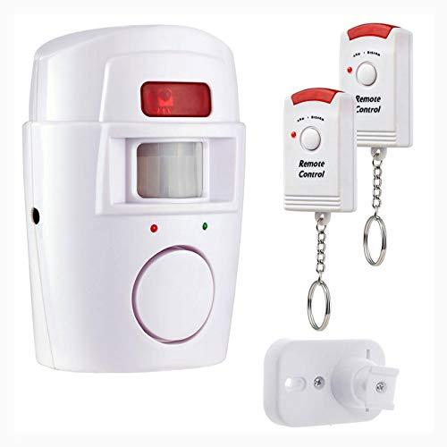 Ballylelly Allarme sensore di movimento PIR Wireless Home Garage Caravan 2 Telecomandi Sicurezza Rilevatori di movimento PIR per roulotte domestiche