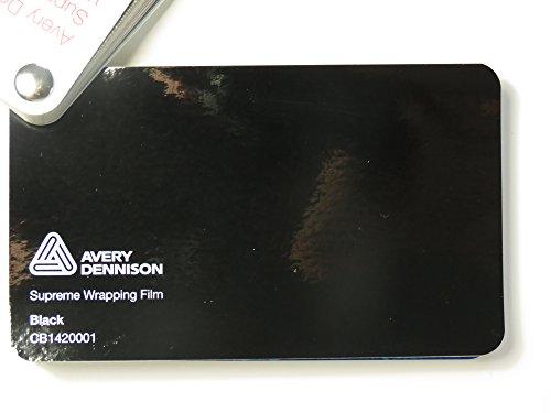 (26,58€/m2) Avery Supreme Wrapping Film Serie Schwarz Glanz gegossene Autofolie 200 x 152 cm Zuschnitt