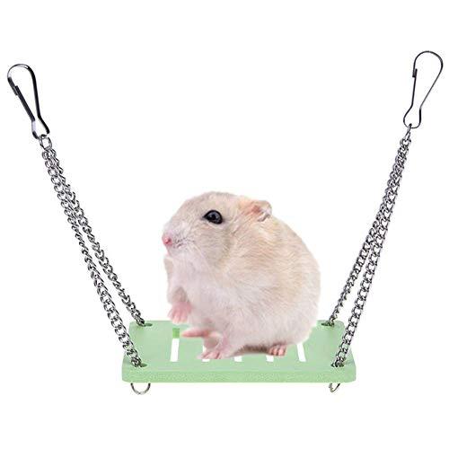 Hamster Zubehör und Spielzeug Kaninchen Spielzeug rosa Langeweile Brecher Hamster Hamsterkäfig Meerschweinchen Spielzeug Hamster Haus Hamster Versteck Hamster Sand zcaqtajro (Color : Green)