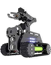 Adeept RaspTank WiFi Wireless Smart Robot Car Kit for Raspberry Pi 3 Model B+ B 2B, Tank Tracked Robot with 4-DOF Robotic Arm, OpenCV Target Tracking, Video Transmission, Raspberry Pi Robot with PDF