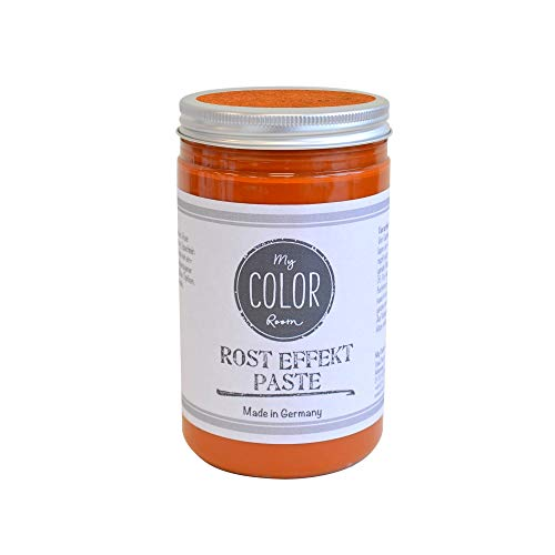 My COLOR Room®️ Rost-Effekt (Rost-Orange - 390 ml) Rost Paste für Industrial Deko - wetterfeste bastel Rosteffekt Farbe für Rost Deko Innen und Außen