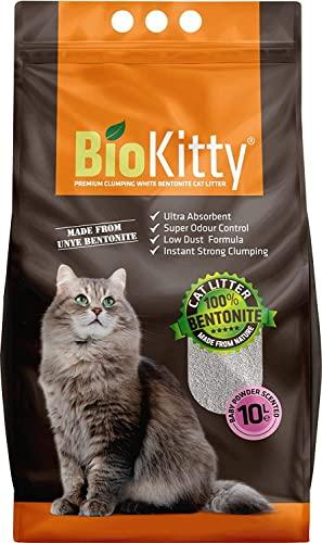 kittymax Biokitty Klumpstreu Katzenstreu-Super Premium Babypuder Duft 4 x 5L 100% Bentonite