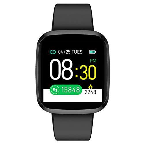 Reloj inteligente, pantalla táctil completa con monitor de frecuencia cardíaca, podómetro, rastreador de actividad y pulsera deportiva compatible con Android Ios,1