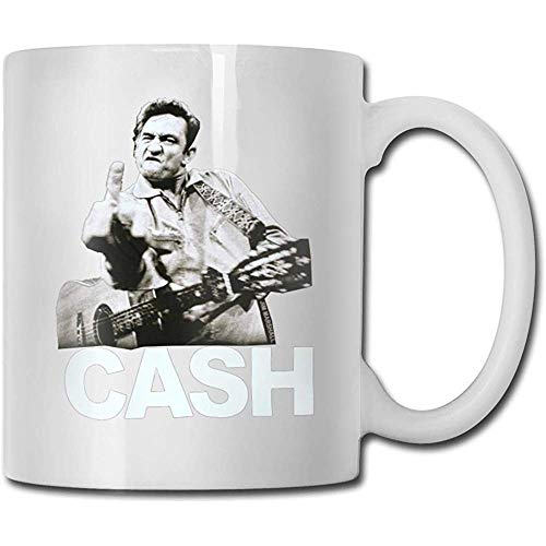 Johnny Cash Mug Kaffeebecher Teetasse Weinbecher Neuheit Lustiger Becher Weiße Keramikbecher Großer C-Griff