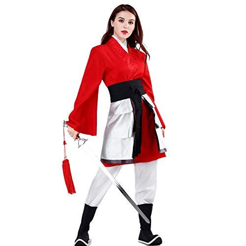 WOGQX Hua Mulan Vestido De Mujer Hanfu Ball Gown Robe Outfit, Disfraz De Cosplay De Halloween,M