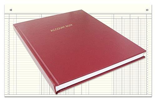 BookFactory Account Book/Ledger Book/Accounting Ledger/Account Notebook (Columnar Book Format) - 168...