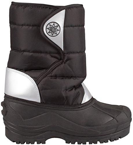 Schreuders Sport pour Enfant Winter-Grip Neige pour Femme, Polyamide, Enfant, Winter-Grip, Black/Silver, 28